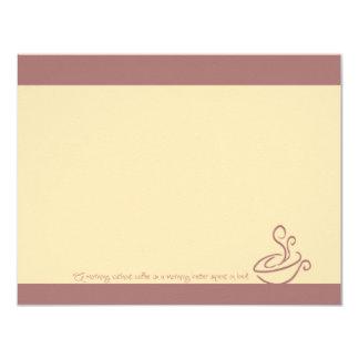 Mañana del rosa color de rosa sin las tarjetas de invitación 10,8 x 13,9 cm