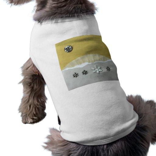 Mañana del solsticio de invierno - collage playera sin mangas para perro