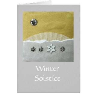 Mañana del solsticio de invierno - collage tarjeta de felicitación