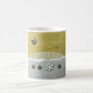 Mañana del solsticio de invierno - collage taza