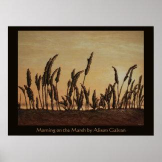 Mañana en el pantano del artista fino Alison Póster