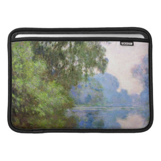 Mañana en el Sena cerca de Giverny Claude Monet Fundas MacBook