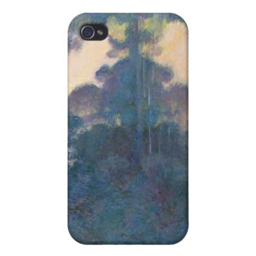 Mañana en el Sena cerca de Giverny - Claude Monet iPhone 4 Protector