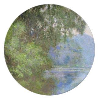 Mañana en el Sena cerca de Giverny Claude Monet Plato Para Fiesta