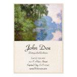Mañana en el Sena cerca de Giverny Claude Monet Plantillas De Tarjeta De Negocio