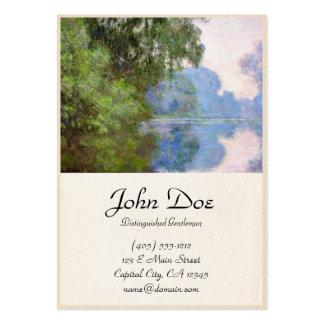 Mañana en el Sena cerca de Giverny Claude Monet Tarjetas De Visita Grandes