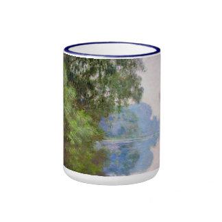 Mañana en el Sena cerca de Giverny Claude Monet Tazas