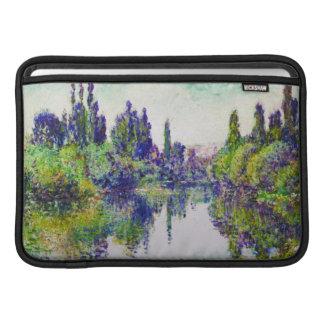 Mañana en el Sena cerca de Vetheuil Claude Monet Funda Para Macbook Air