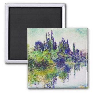 Mañana en el Sena, cerca de Vetheuil Claude Monet Imán Cuadrado