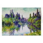 Mañana en el Sena, cerca de Vetheuil Claude Monet Tarjeta Pequeña