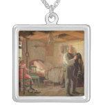 Mañana en la casa de campo de un portero, 1874 collar plateado