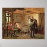 Mañana en la casa de campo de un portero, 1874 póster