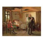 Mañana en la casa de campo de un portero, 1874 tarjeta postal