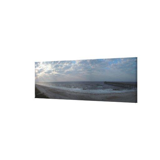 Mañana en la playa lienzo envuelto para galerías