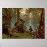 Mañana en un bosque del pino, 1889 impresiones