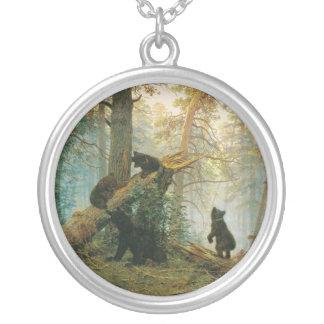 Mañana en un bosque del pino de Ivan Shishkin Colgante Redondo