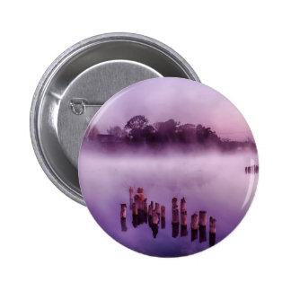 Mañana flotante del lago fog de la isla de Japón Pin Redondo 5 Cm