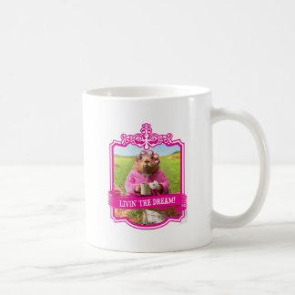 Mañana Groundhog con el buñuelo y el café del Taza Clásica