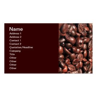 MAÑANA H de los GRANOS de CAFÉ Roasted-coffee-bag1 Tarjetas De Visita