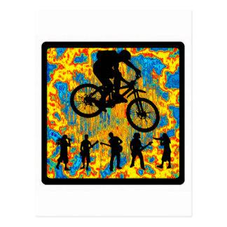 Mañana pura de la bici tarjetas postales