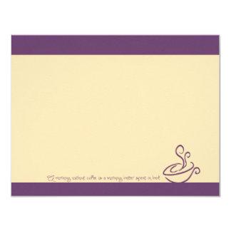 Mañana púrpura de la uva sin las tarjetas de nota invitación 10,8 x 13,9 cm