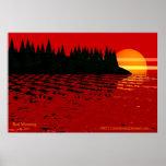 Mañana roja (impresión) posters