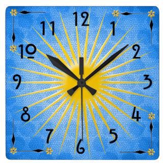 Mañana Sun Reloj Cuadrado