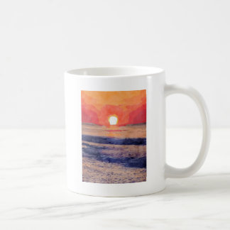 Mañana Sun sobre Océano Atlántico Tazas