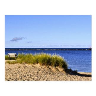 Mañana tranquila en el lago Michigan Tarjetas Postales