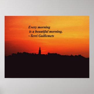 Mañanas hermosas póster