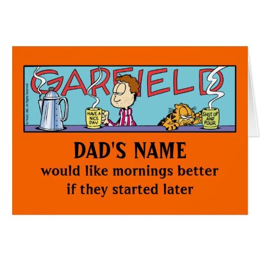 Mañanas perezosas de Garfield Tarjeta De Felicitación
