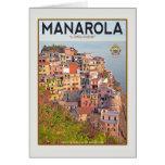 Manarola Vineyard Harbor - on white Stationery Note Card