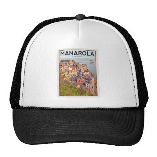 Manarola Vineyard Harbor - on white Trucker Hat