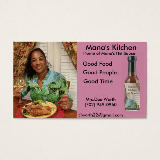 Mana's Kitche Business Card