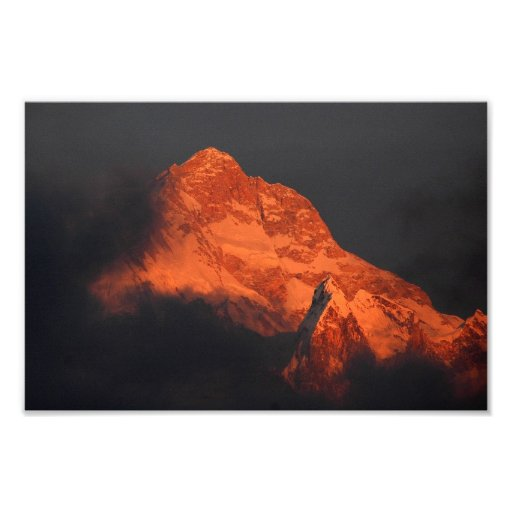 Manaslu Alpenglow Photo Art