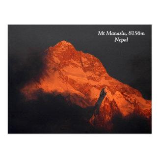 Manaslu Alpenglow Tarjetas Postales