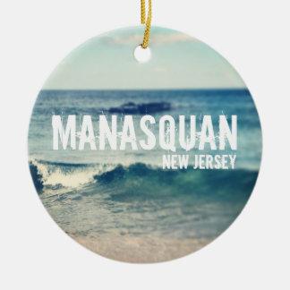 Manasquan - 2013 - recuperación en la orilla del adorno redondo de cerámica