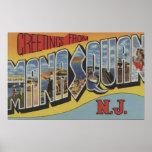 Manasquan, New Jersey - escenas grandes 2 de la le Póster