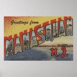 Manasquan, New Jersey - escenas grandes de la letr Póster