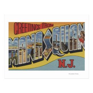 Manasquan, New Jersey - escenas grandes de la Postal