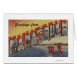 Manasquan, New Jersey - Large Letter Scenes 2 Card