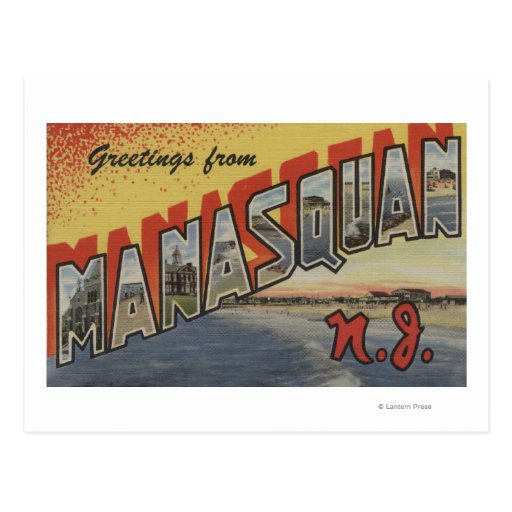 Manasquan, New Jersey - Large Letter Scenes 2 Post Cards
