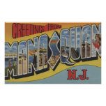 Manasquan, New Jersey - Large Letter Scenes 2 Posters