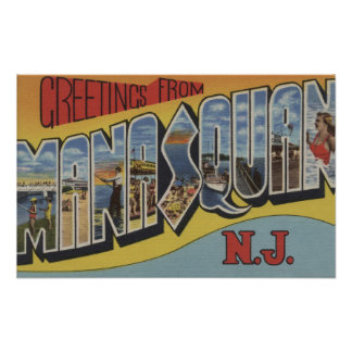 Manasquan, New Jersey - Large Letter Scenes 2 Poster