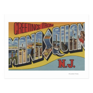 Manasquan, New Jersey - Large Letter Scenes Postcard