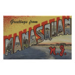 Manasquan, New Jersey - Large Letter Scenes Posters