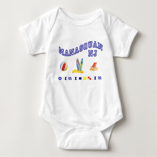 Manasquan NJ - Deletreo marítimo Body Para Bebé