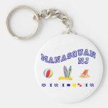 Manasquan NJ - Deletreo marítimo Llavero Personalizado