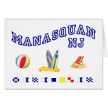 Manasquan NJ - Deletreo marítimo Tarjeton