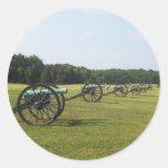 Manassas Battlefield - Civil War Round Stickers